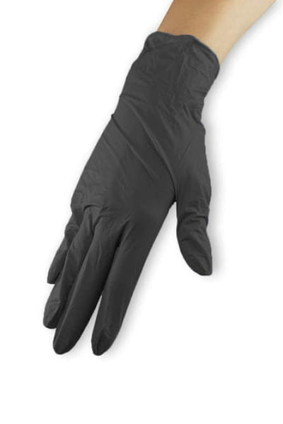 Nitrile gloves - black, size L