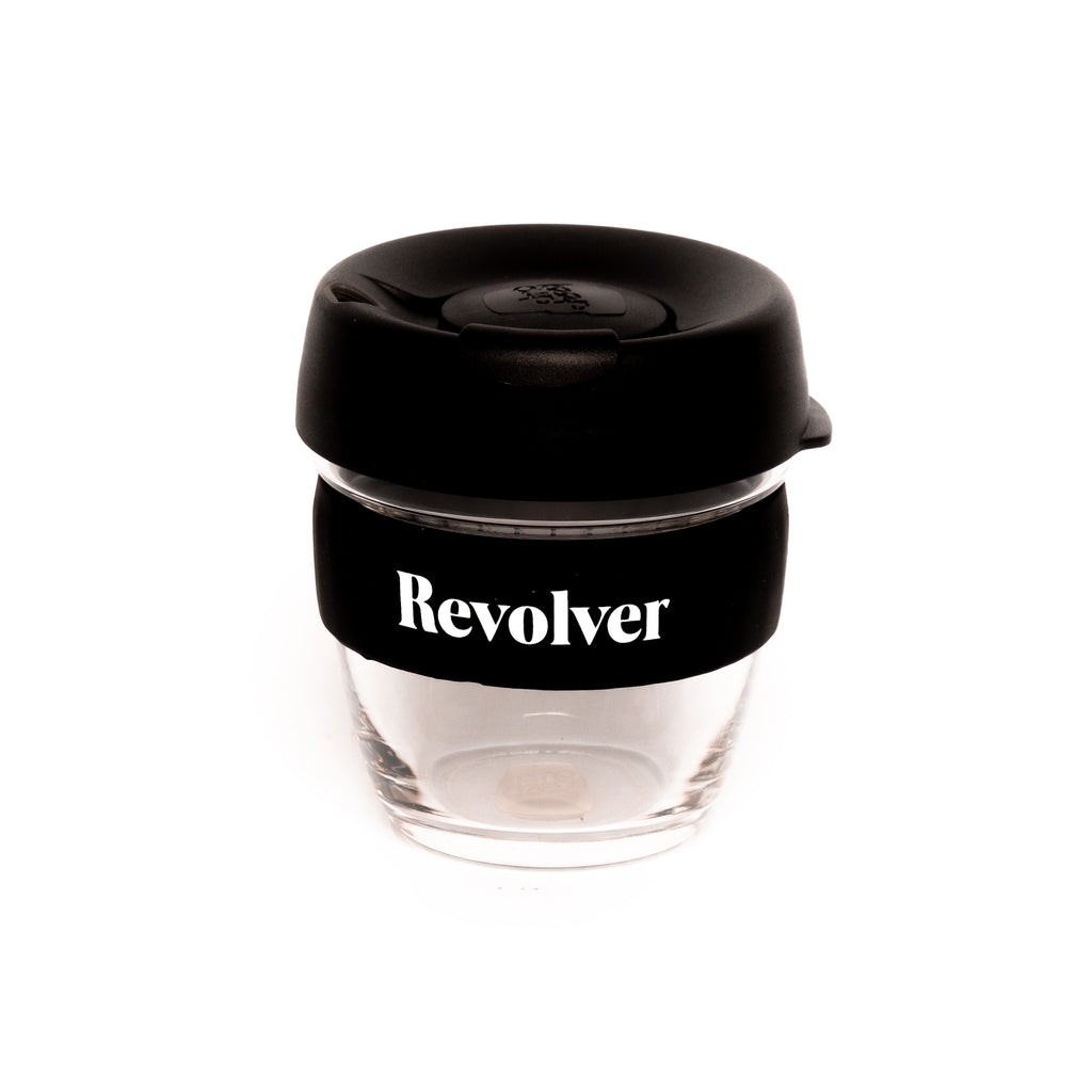 8oz Glass Keep Cup 'Revolver' or 'Coffee'