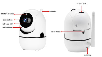 Go1 Indoor 1080p Wi-Fi Security Camera White/Black