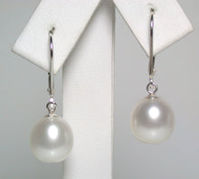 Load image into Gallery viewer, 9.5x11mm white pearl & sterling silver earrings
