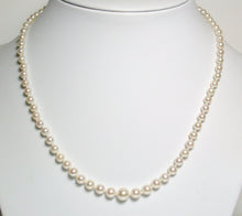 Load image into Gallery viewer, Vintage 3.4-7.2mm Akoya pearl & 9ct gold necklace