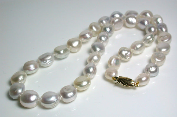 Multicolour 9-11mm South Sea pearl necklace & 9 carat gold clasp