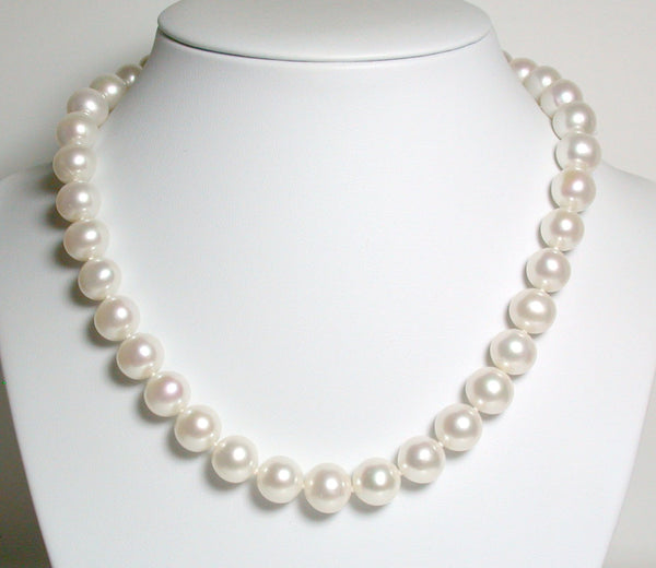 11-11.5mm white pearl & vermeil necklace