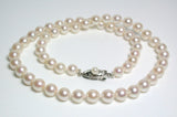 Vintage 6-6.7mm Akoya pearl & sterling silver necklace
