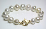 10-14mm white South Sea pearl & gold vermeil bracelet