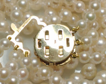 Load image into Gallery viewer, Vintage triple 4-7.5mm Akoya saltwater pearl & 9 carat gold necklace