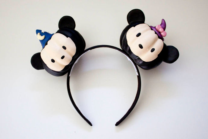 RTS - Mickey and Minnie Pumpkin Heads