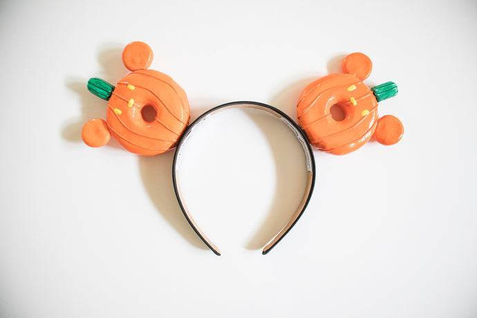 Halloween Donut Ears - Pumpkin Mickey