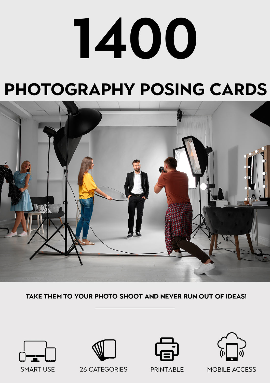 1400+ Photography Posing Cards Premium Edition