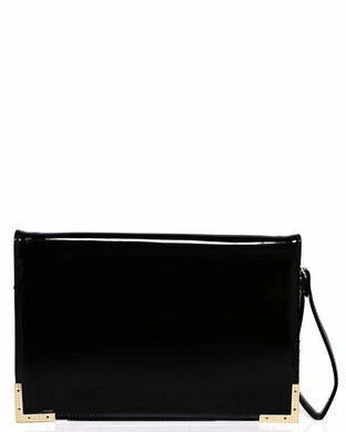 Gold Metal Trim Black Clutch