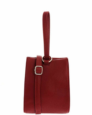 Hand Strap Red Bucket Bag