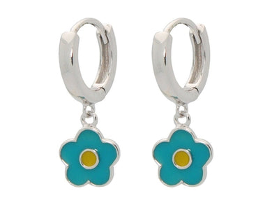 BecKids Girls Sterling Silver Dangling Turquoise &
