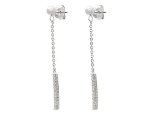 Post & Flash Bar Dangling Earrings