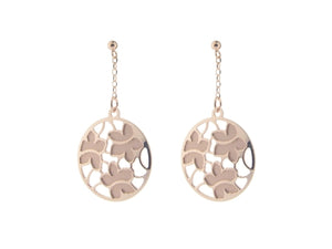 Etruscan Rose Gold Flower Earrings in Sterling