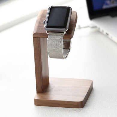 Wood Apple Watch Charging Stand Station