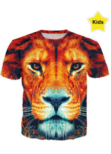 Brown Tiger All over printed t-shirt for kids