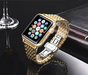 Stainless Steel Apple Watch Gold iWatch Band