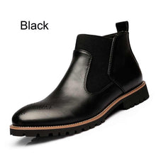 Fashion Ankle Boots,Black/Brown/Red Brogues Soft Leather