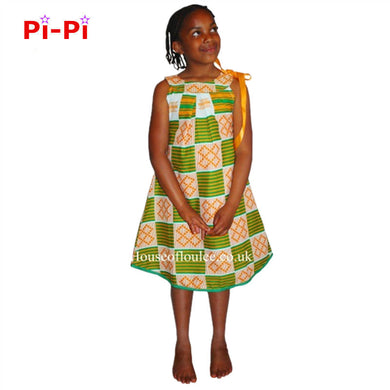 New African riche girl dashiki dress.