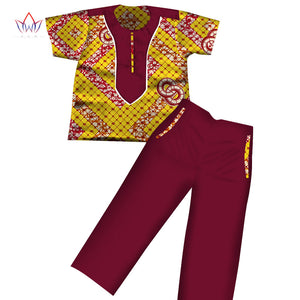 Boys Clothes African Dashiki Kids Clothing Short Sleeves .