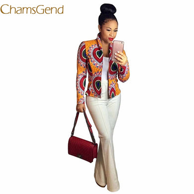 Fashion Autumn Women Dashiki Long Sleeve African  Dashiki Short Casual Jacket .