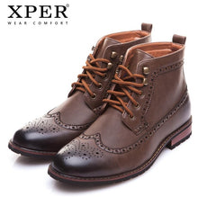 Men Boots Fashion Carved Male Lace-UP Shoes