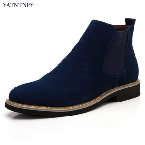 Men's Short boots comfortable Suede Leather