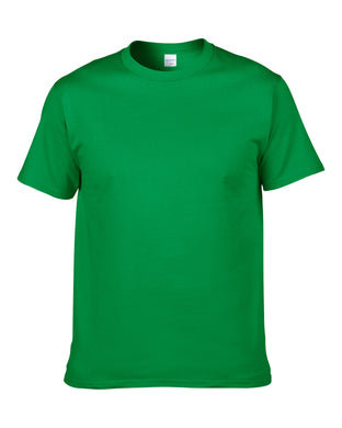 Solid color t-shirt round neck short sleeve cotton.