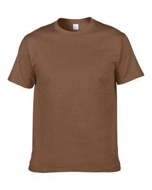 Solid color t-shirt round neck short sleeve.