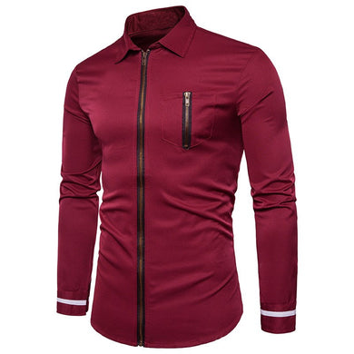 Casual Shirts Mens Long Sleeve Slim Fit.
