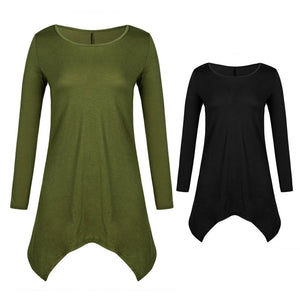 Women Long Sleeve  Casual Pullover Top Neck T-shirt.