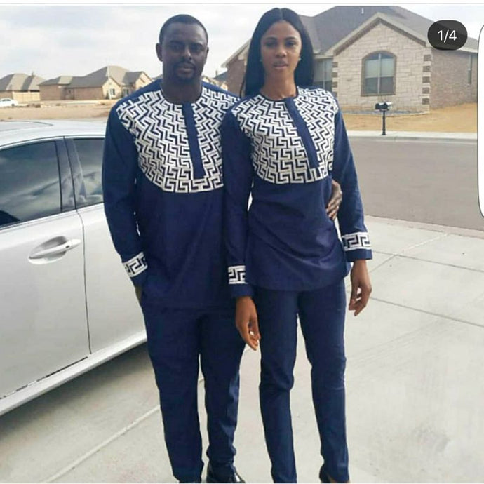 2018 new african couple set dashiki for men & women.