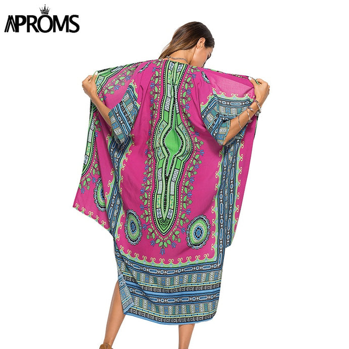 l Dashiki Print African Clothes Women Fashion 2018 Short Sleeve Summer Shirt