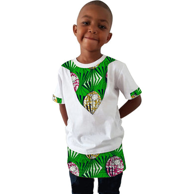 Custom made boys dashiki summer short sleeve t shirt.