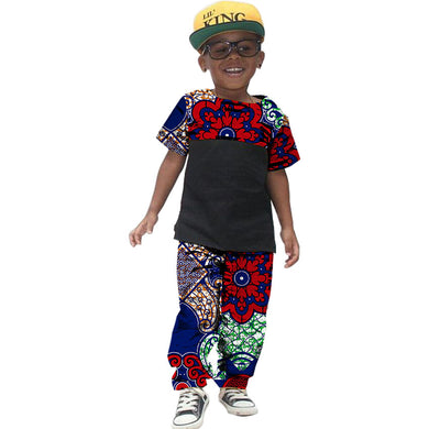 Boy's 2 piece dashiki short sleeve .