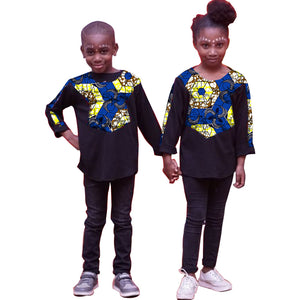 African girl's clothes three quarter sleeve shirt.