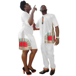 African Dresses Dashiki  For Women & Men's  2018.