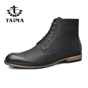 Fashion Warm Men Boots Business Casual