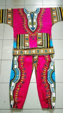 New african 100% cotton Dashiki dresses suit T-shirt and pants.