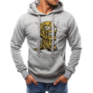 Men Simple Pullover Print Hoodie