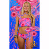 Reversible Bandeau in Jellyfish Royal/Pink