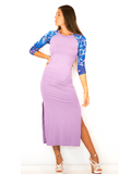 Dress No. 5 in Lavender with Midnight Sun Sleeves
