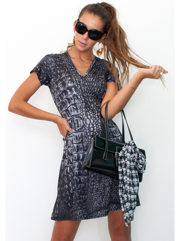 Tee Dress in Night Gator