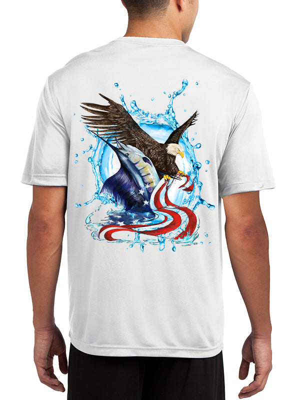 Men's Eagle & Sailfish UPF 50+ Sun Protective Tee-SHORT SLEEVE