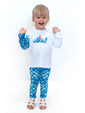 Girls UPF 50+ Legging in Mermaid Blue