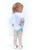 Girls UPF 50+ Legging in Seahorse Candy