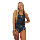 Sport One Piece in Merscale Black