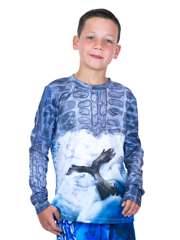 Shark Skinz UPF 50+ Youth Sun Protective Tee