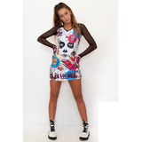 Surf Dress in Sugar Skull