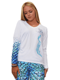 Om Mermaid Aqua UPF 50+ Ladies Performance Tee